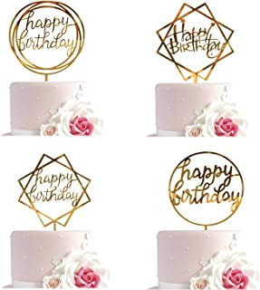 Happy Birthday Cake Topper Acrylic Cupcake Topper a Series of Birthday Cake Supplies Decorations Buy 4 to Get One Free