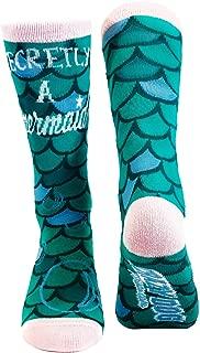 Secretly A Mermaid Socks Cute Funny Fish Scales Casual Footwear
