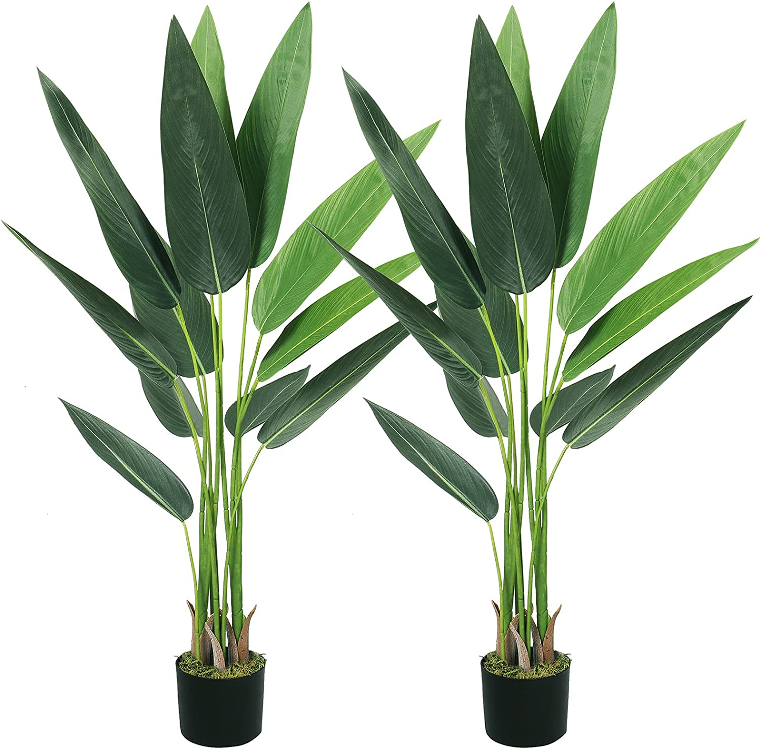 VIAGDO Bird of Paradise Artificial Plants 4ft with Faux Cheap mail order shopping Tall We OFFer at cheap prices 12