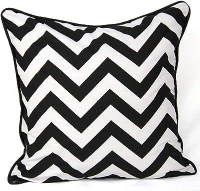 Funda de almohada de lona de algodón elegante patrón de onda ...