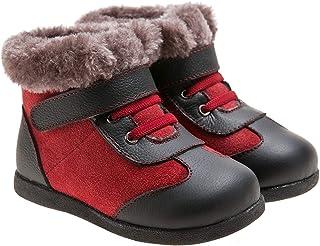 6852d838ad478 Little blue lamb toddler bottes fourrées bottes en cuir rouge noir