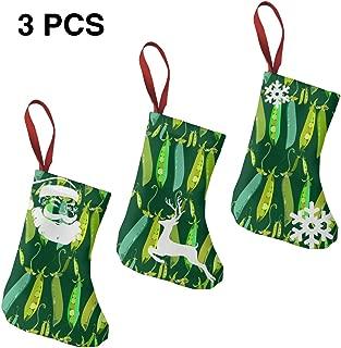 Peapod Seamless Pattern Personalized Holiday Gift Stockings Home Decoration Christmas Stockings 3 Pcs Set 7.5