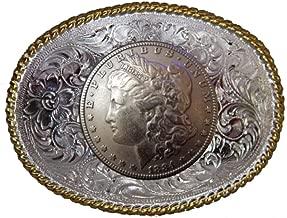 Morgan Silver Dollar Concho Belt Buckle Heads