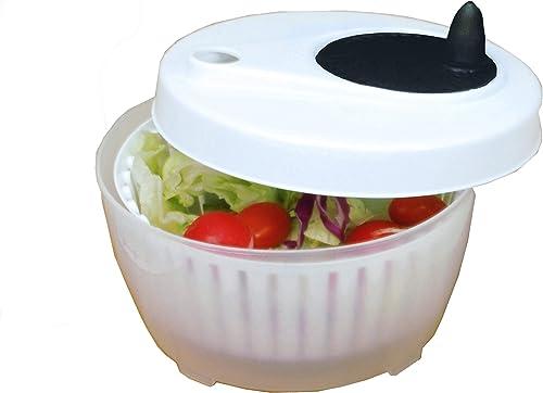 lowest ExcelSteel wholesale Functional, online Fruits, Vegetables Mini Salad Spinner, 1.4 Qt, White sale