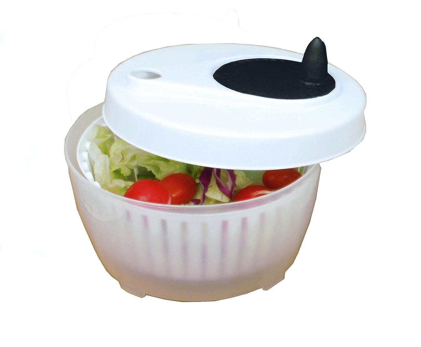 ExcelSteel 602 Functional, Fruits, Vegetables Mini Salad Spinner, 1.4 Qt, White