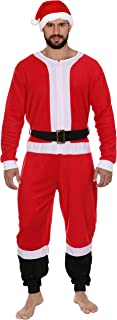 Adult Mens Womens Christmas Holiday Elf Onesie Pajama