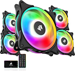 Asiahorse FS-9002Pro 20+8LED(in and Outside Light efect) ARGB White 120mm Case Fan with 5V PWM Motherboard Sync/Analog Con...