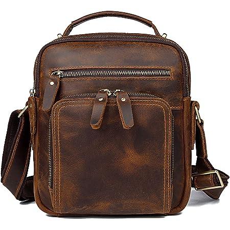 TIDING Leather Messenger Bag for Men