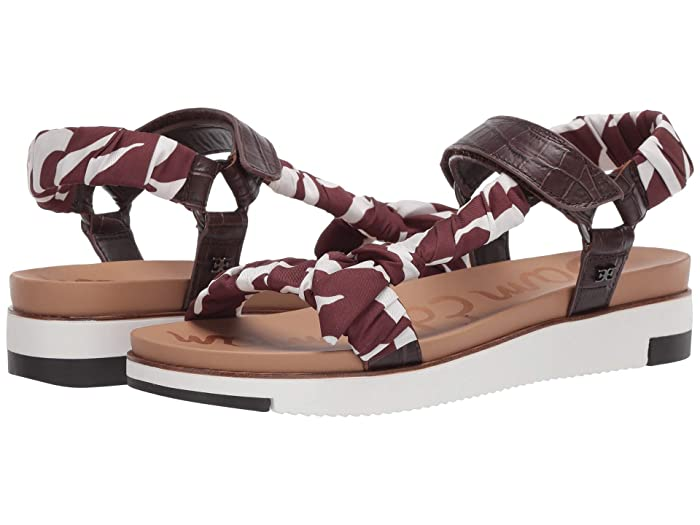 Sam Edelman  Ashie (Brown/Brown Multi Shiro Croco Leather/Dress Silk Zambian Zebra) Womens Shoes