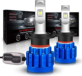 H7 LED Headlight Bulb, Rigidhorse Hi/Lo Beam Fanless Cree LED Chips Headlight Conversion Kit 60W 8000LM 6500K Xenon White Extremely Bright Car Light Bulb