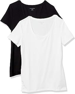 Women's 2-Pack Classic-Fit Short-Sleeve Scoopneck T-Shirt