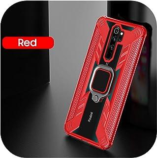 HWOZ for Redmi Note 8 Pro 7 K20用の耐衝撃性磁気ケースfor Xiaomi Mi Note 10 CC9 Pro Mi 9 Lite Mi 9T A3用バックフォンカバー-Red-for Mi Note 10