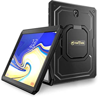 Fintie Shockproof Case for Samsung Galaxy Tab S4 10.5 2018 Model SM-T830/T835/T837, [Tuatara Magic Ring] [360 Rotating] Multi-Functional Grip Stand Carry Cover w/Built-in Screen Protector, Black