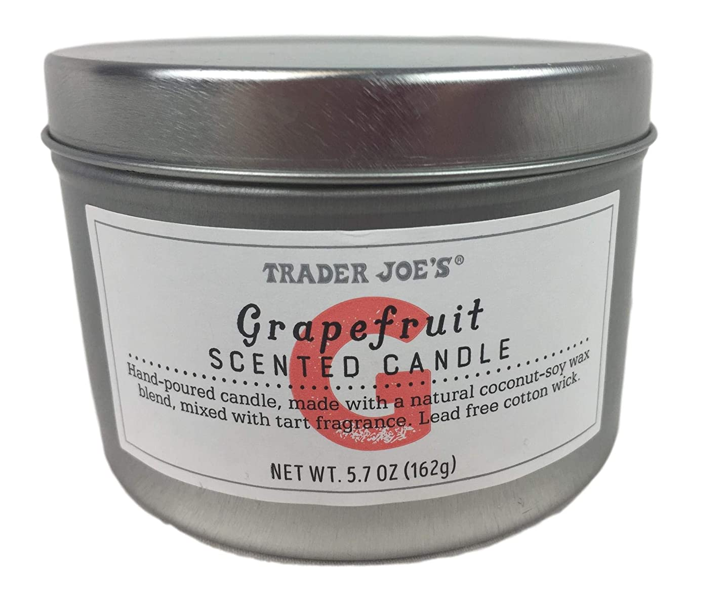 体操選手低い頼むTrader Joe's Grapefruit Scented Candle NET WT 170ml (162g)