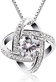 EverReena 925 Sterling Silver Necklace Classic Infinity Love Chain Pendant Crystal CZ