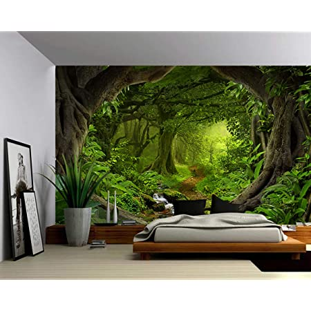 3D Jungle A26 Removable Wallpaper Self Adhesive Wallpaper Extra Large Peel /& Stick Wallpaper Wallpaper Mural AJ WALLPAPERS