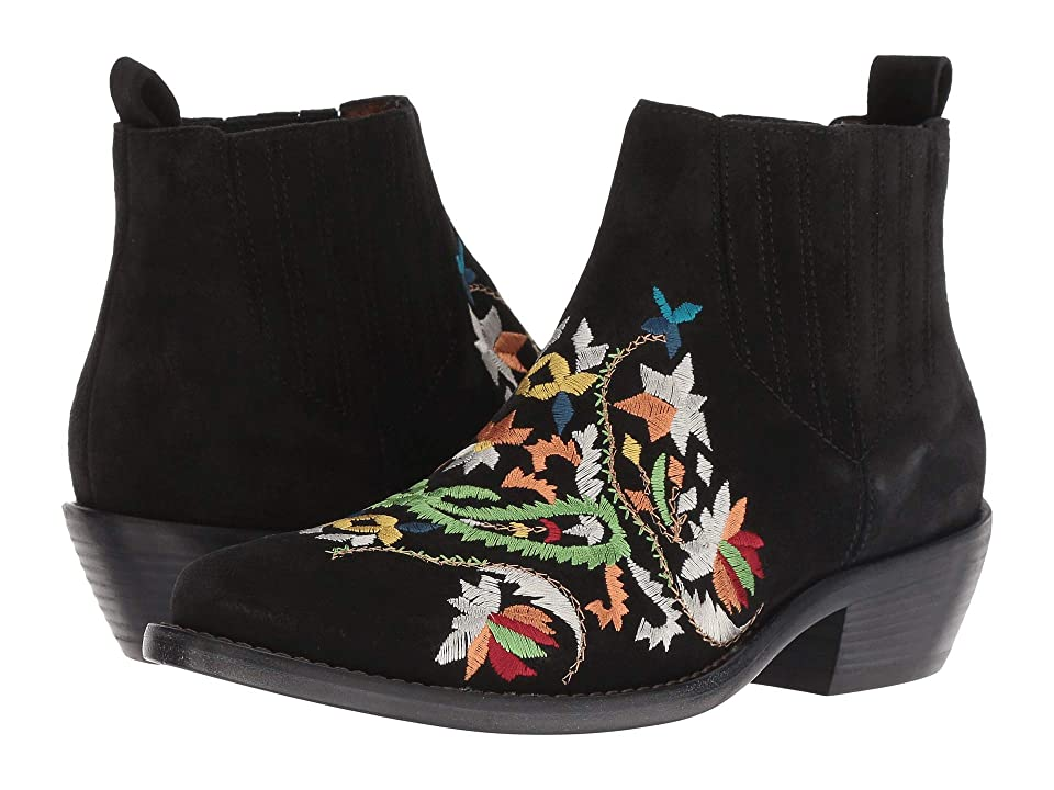 Etro Embroidered Suede Boot (Black) Women