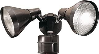 Heath Zenith SL-5412-BZ-D 300-Watt Motion-Sensing Twin Security Light, Bronze