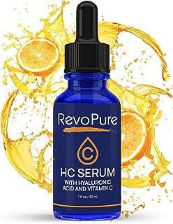 RevoPure Vitamin C Serum for Face w/Hyaluronic Acid - Professional Grade Anti Aging Serum, Dark Spot Remover for Face, Ski...