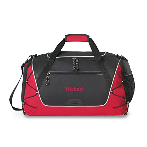 2303d574bd75 Personalized Sports Duffel Bag - Personalized Gym Bag - Monogrammed Sports  Duffel Bag - Red Thread