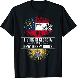 Georgia Home New Jersey Roots State Tree Flag Gift T-Shirt