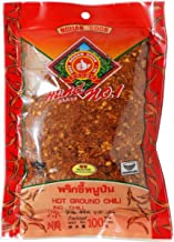 Nguan Soon Hot Ground Dried Chili (Prik Pon) 100% From Natural Net Wt 100 G (3.53 Oz) Herbal Brand Nguan Soon X 5 Bags Product of Thailand