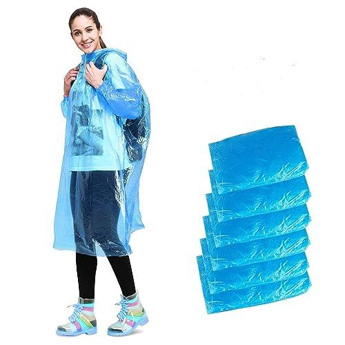 b174d8b00 Disposable Rain Poncho, Aival Emergency Waterproof Poncho Raincoat, Hooded  Poncho Mackintosh for Camping Hiking