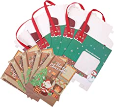 CLISPEED 5 Sets Bags Paper Cookie Boxes Merry Christmas Tote Bag Xmas Goodie Bags for Xmas Holiday Supplies