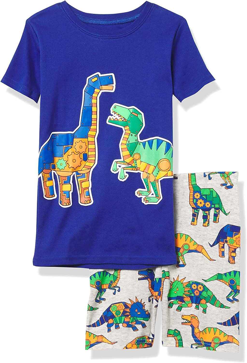 The Children's Place Baby And Toddler Boys Robot Dino Snug Fit Cotton Pajamas