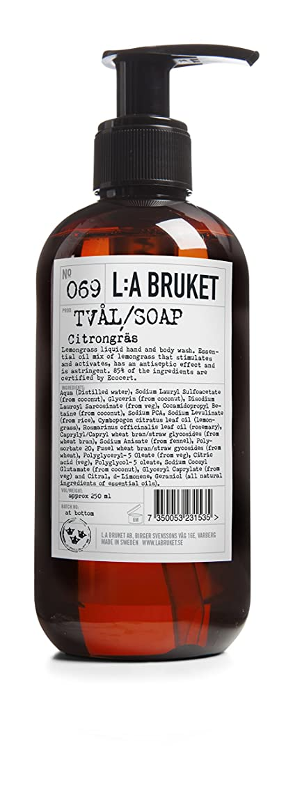 不利乱暴な広範囲L:a Bruket (ラ ブルケット) ハンド&ボディウォッシュ (レモングラス) 250g