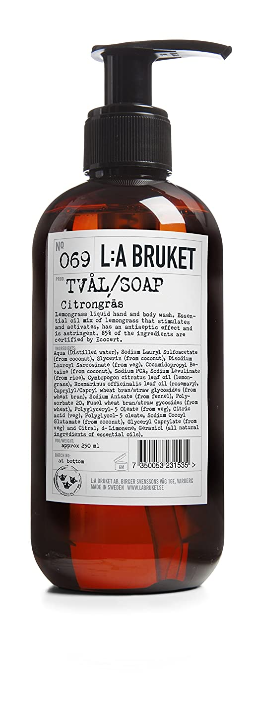 オーバーコート経度摂動L:a Bruket (ラ ブルケット) ハンド&ボディウォッシュ (レモングラス) 250g