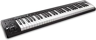 M-Audio Keystation 61MK3 - Teclado Controlador MIDI Compacto de 61 teclas con controles asignables, ruedas de cambio de tono / modulación, conectividad Plug-and-Play (Mac/PC) y software incluida