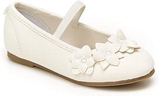carter's Girls Sia Ballet Flat, White, 11 Little Kid US