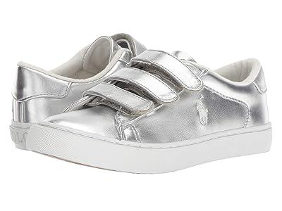 Polo Ralph Lauren Kids Easten EZ (Little Kid) (Silver Metallic/White Pony) Girl