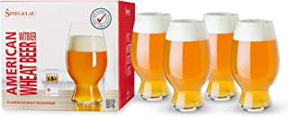 Spiegelau Craft Beer Wheat Beer Glasses, Set of 4, European-Made Lead-Free Crystal, Modern Beer Glasses, Dishwasher Safe, ...