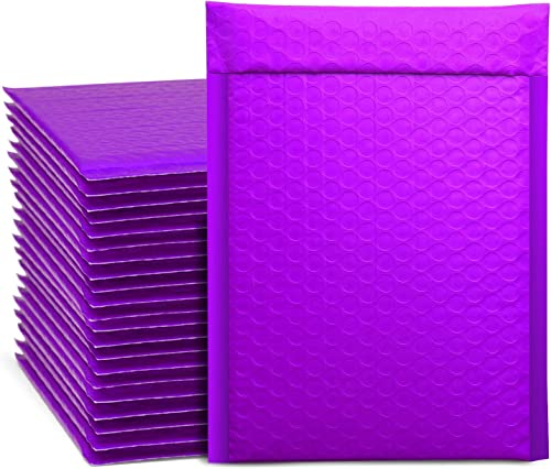 Metronic 25Pcs Poly Bubble Mailers, 6X10 Inch Padded Envelopes Bulk #0, Bubble Lined Wrap Polymailer Bags for Shippin...
