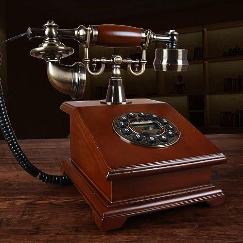 HBWJSH Vintage Bois Fixe Salon étude rétro téléphone de Bureau à Domicile