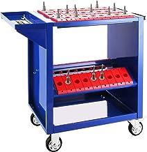 VEVOR CNC BT30 alet arabası, CNC alet taşıyıcı, 86,36 x 43,18 x 78,74 cm, çelik atölye arabası ve 2 saklama kabı, mavi ale...