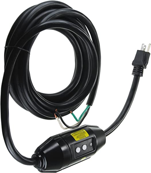 GFCI Cord Replacement For Hot Tub Spa Pool 120V 15A Inline Style