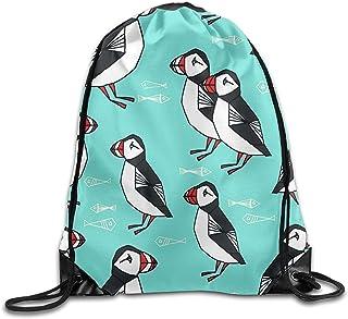 Bolsa de viaje para deportes, bolsa de viaje, bolsa de cuerda, patrón de frailecillos, mochila de viaje, bolsa de gimnasio