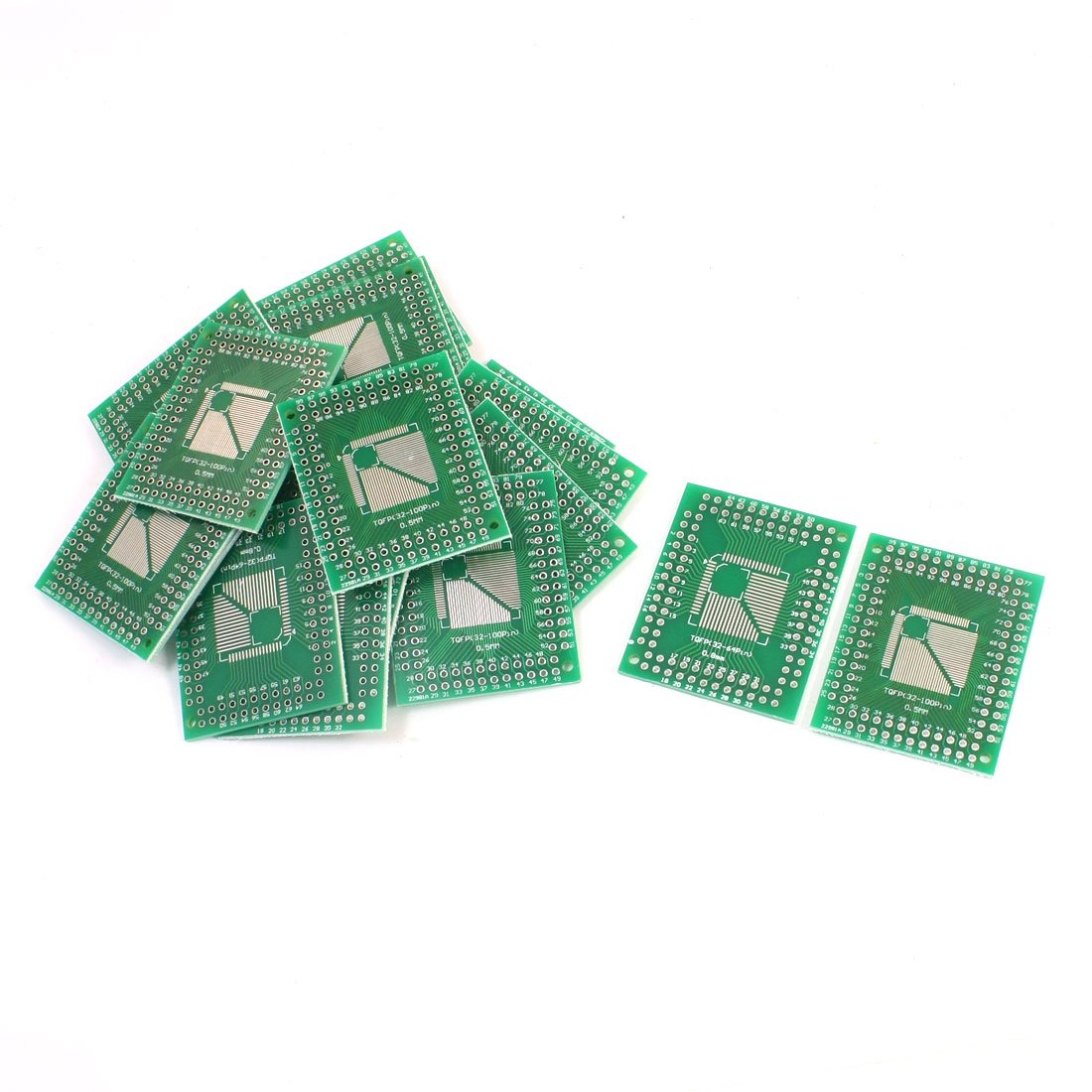 uxcell 20Pcs 0.5mm Max 73% OFF 0.8mm Sale special price TQFP 32-100 to PCB 2.54mm SMD IC DIP A