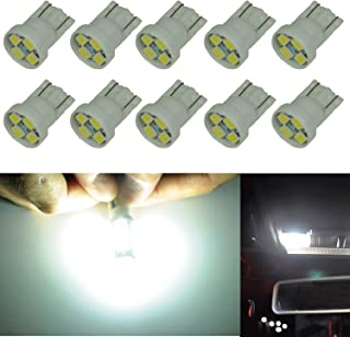 Cutequeen 10PCS LED Car Lights Bulb White T10 2835 4-SMD 160 Lumens 194 168 (pack of 10)