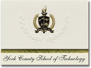 Signature Ankündigungen York County (School of Technologie (York, PA) Graduation Ankündigungen, Presidential Stil, Elite Paket 25 Stück mit Gold & Schwarz Metallic Folie Dichtung B078VDPJ9T  Lassen Sie unsere Produkte in die Welt gehen