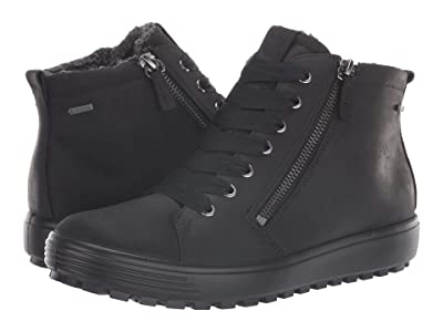 ECCO Soft 7 Tred GORE-TEX(r) High (Black Cow Oil Nubuck) Women