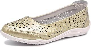 Bailarinas/Mary Jane Merceditas para Mujer, Zapatos Plano Verano para Caminar, Zapatillas de Ballet de Piel Mocasines Transpirables Cómodos Moda Loafers Zapatos de Conducción para Señoras