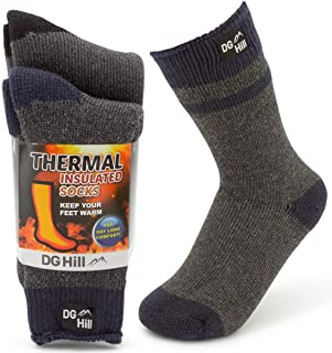 2 Pairs of Thermal Socks For Kids, Thick Heat Trapping...