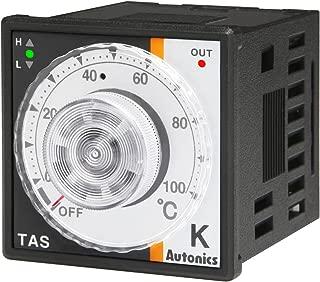 Autonics TAS-B4RK4F Temp Control, 1/16 DIN, Analog, PID Control, Relay Output, K Thermocouple, 32 to 752 F, 100-240 VAC