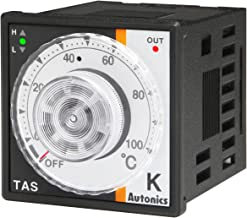 Autonics TAS-B4RK4F Temp Control, 1/16 DIN, Analog, PID Control, Relay Output, K Thermocouple, 32 to 752 F, 100-240 VAC
