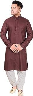 Algodón semiformal para Hombre Kurta Salwar Kameez Sherwani 1065