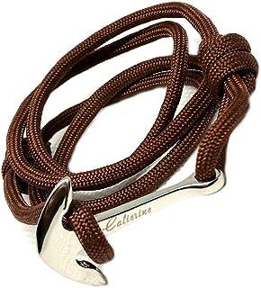 284e23615009 Pulseras para Hombre Ancla en acero inoxidable y cuerda de velerismo  Calterine